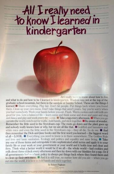 kindergarden - Everything I Know I Learned In Kindergarten