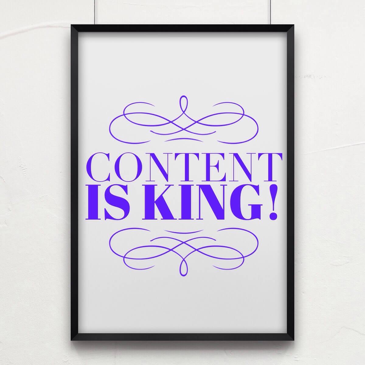 Content is Queen!
