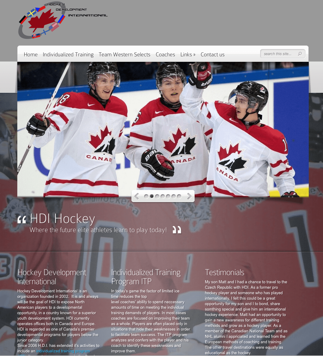 HDI Hockey website