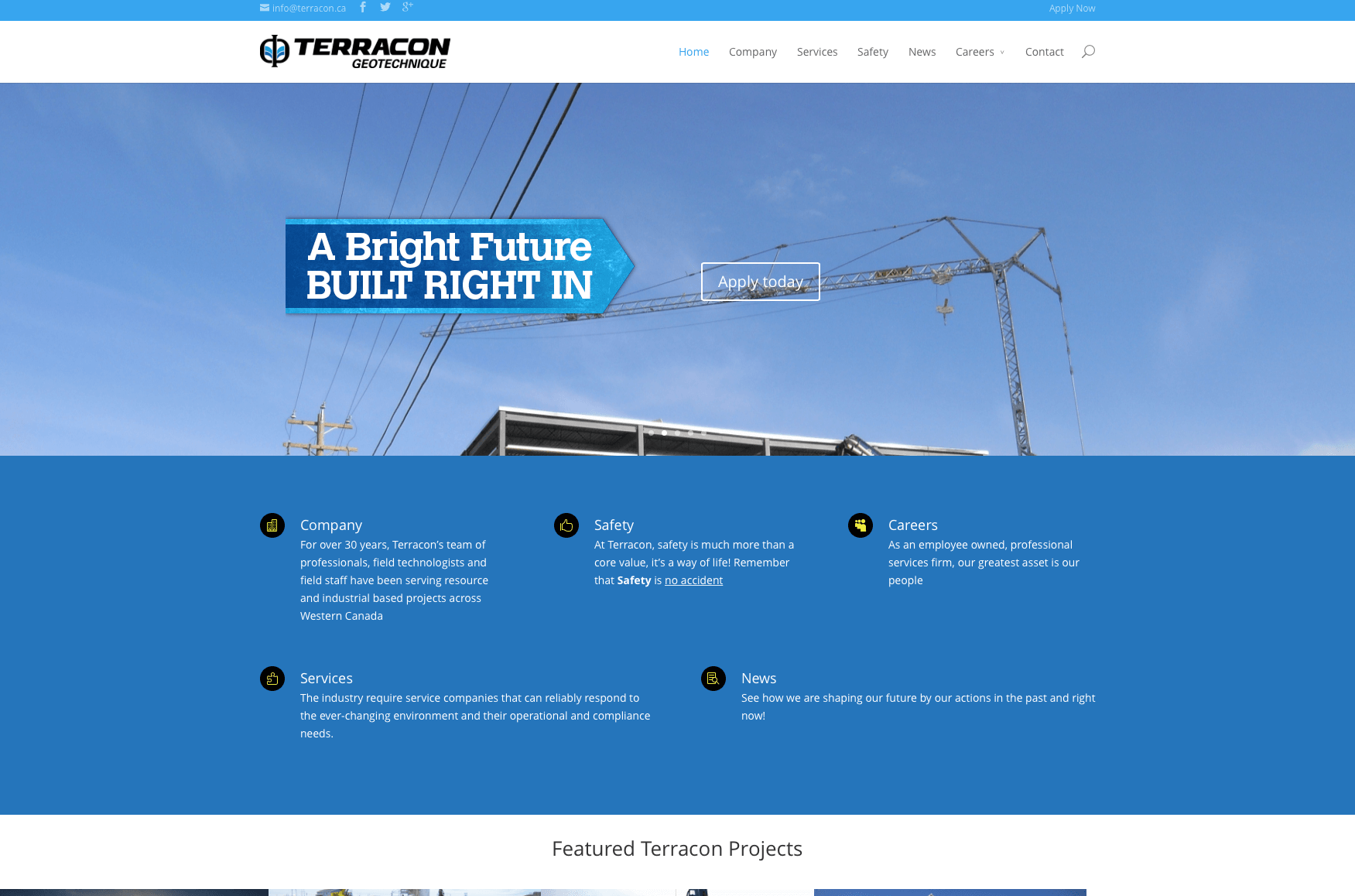 Website Development Terracon.ca
